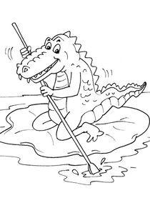 Coloriage De Crocodile A Colorier.Coloriages Crocodiles A Imprimer Coloriages Animaux