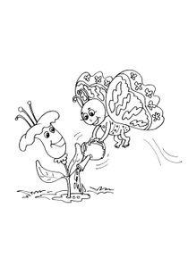 Coloriage Cheval Papillon.Coloriages Animaux Dessins Animaux A Colorier Et A Imprimer