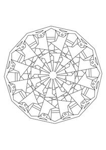 Coloriage A Imprimer De Mandala.Coloriages Mandalas A Imprimer Coloriages Chiffres Et Formes