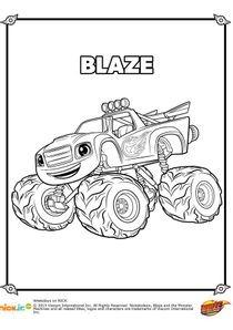 Coloriage Fonce Blaze.Coloriages Blaze Et Les Monster Machines A Imprimer Coloriages