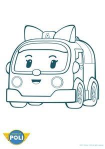 Coloriage Robot Car Polly.Coloriages Robocar Poli A Imprimer Coloriages Dessins Animes