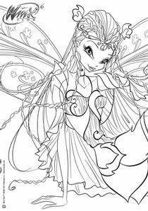 Coloriage Winx A Imprimer.Coloriages Winx Club A Imprimer Coloriages Dessins Animes