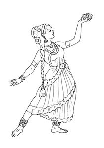 Coloriage Danseuse Salsa.Coloriages Danseuses A Imprimer Coloriages Metiers