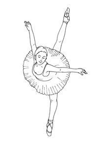 Coloriage Danseuse De Ballet.Coloriages Danseuses A Imprimer Coloriages Metiers