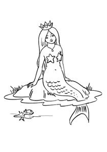 Coloriage Facile Sirene.Coloriages Sirenes A Imprimer Coloriages Personnages