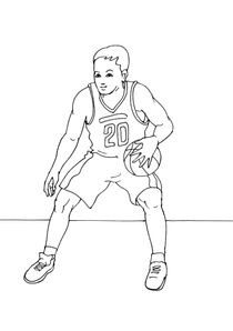 Coloriage Basket Fille.Coloriages Basket A Imprimer Coloriages Sports