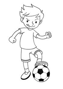 Coloriage Fille Foot.Coloriages Football A Imprimer Coloriages Sports