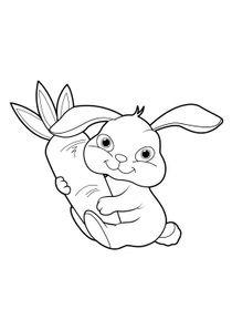 Dessin de lapin trop mignon a imprimer - Coloriage drole a imprimer ...