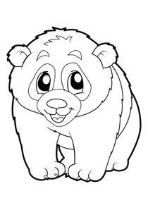 Coloriages pandas imprimer coloriages animaux - Coloriage de panda kawaii ...