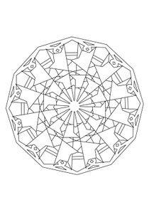 Coloriages mandalas imprimer coloriages chiffres et formes - Mandala anniversaire ...