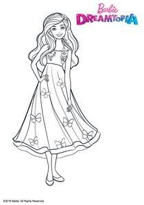 Coloriages barbie dreamtopia imprimer coloriages dessins animes - Barbie sirene magique ...