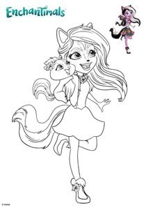 Coloriages Enchantimals à imprimer - Coloriages Dessins animes