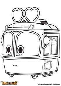 Coloriages Robot Trains à imprimer - Coloriages Dessins animes