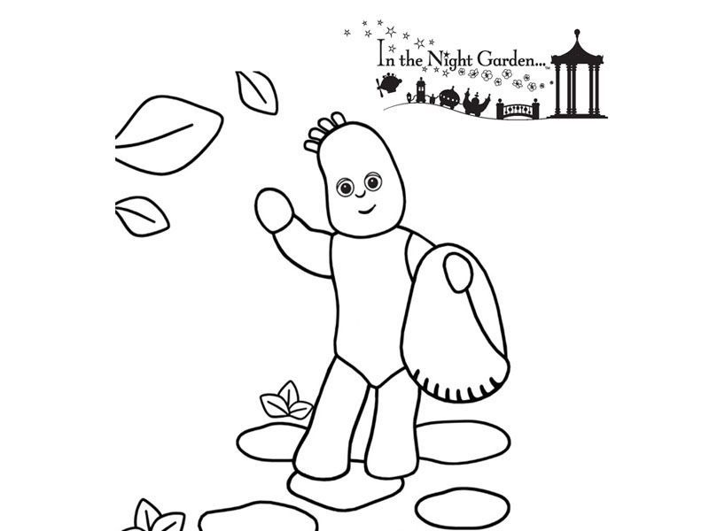 in the night garden coloring pages - iggle piggle free colouring pages