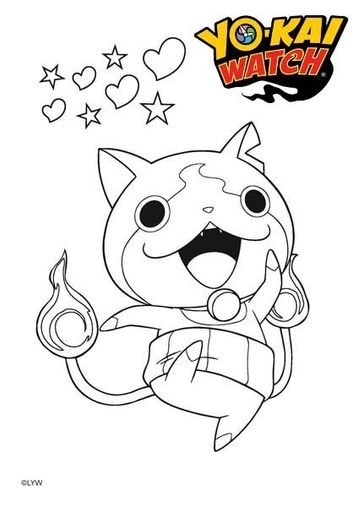 coloriages yo kai watch - Coloriage Gratuit
