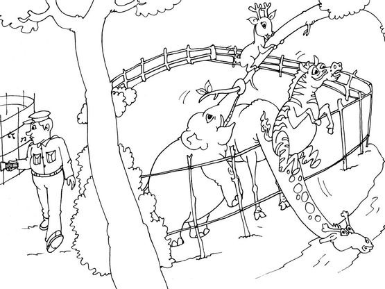 Coloriage Animaux Zoo.Coloriage Zoo 21 Coloriage Zoo Coloriages Animaux