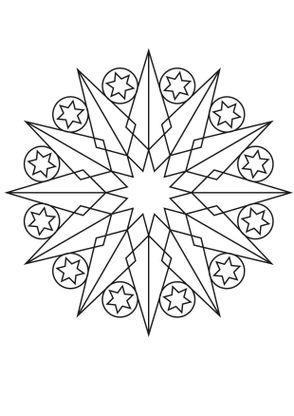 Coloriage De Mandala Etoile.Coloriage Mandala Etoile 2 Coloriage Mandalas Coloriages
