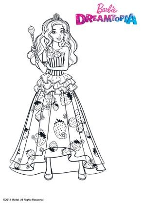 Coloriage Barbie Princesse Bonbons Coloriage Barbie Dreamtopia