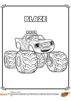 Coloriage Blaze Gratuit.Coloriage Blaze Coloriage Blaze Et Les Monster Machines