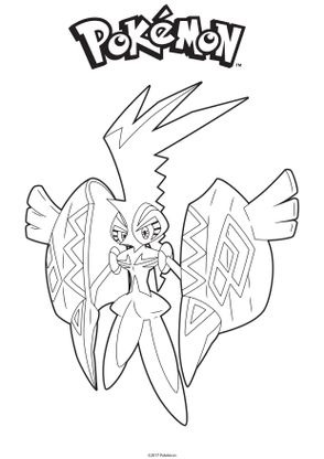 Coloriage Tokorico Coloriage Pokemon Coloriages Dessins Animes
