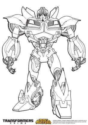 Coloriage Facile Transformers.Coloriage Transformers Prime Beast Hunters Bumblebee Coloriage