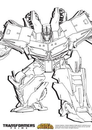 Coloriage Transformers Prime Beast Hunters Optimus Prime 2