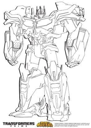 Coloriage Transformers Prime Beast Hunters Optimus Prime