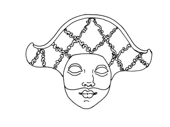 Coloriage Masque Darlequin.Coloriage Masque 7 Coloriage Masques Coloriages Fetes