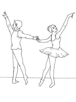 Coloriage Danseuse Ballet.Coloriage Danseuse 7 Coloriage Danseuses Coloriages Metiers
