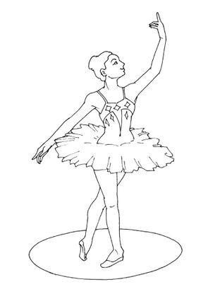 Coloriage Danseuse De Ballet.Coloriage Danseuse 8 Coloriage Danseuses Coloriages Metiers