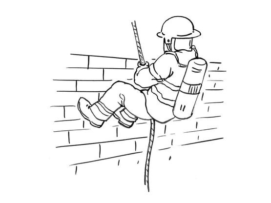 Dessin Pompier coloriage pompier 7 - coloriage pompiers - coloriages metiers