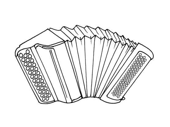 Dessin Accordéon coloriage l'accordéon - coloriage instruments - coloriages musiques