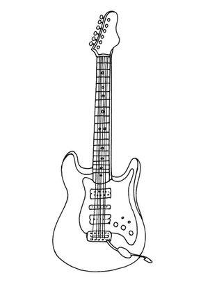guitare electrique coloriage