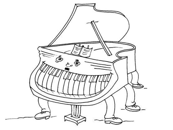 Dessin De Piano coloriage le piano - coloriage instruments - coloriages musiques
