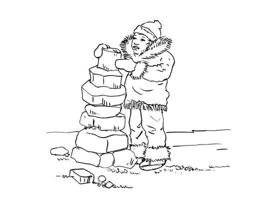 Coloriage Petit Inuit 5 Coloriage Enfants Garcons Inuit
