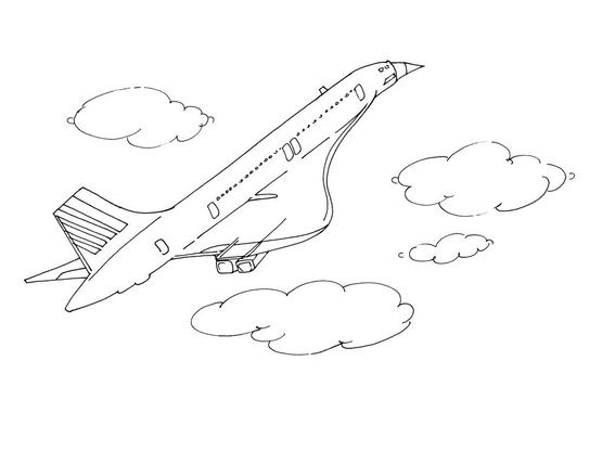 Coloriage Avion Profil.Coloriage Avion 13 Coloriage Avions Coloriages Transports