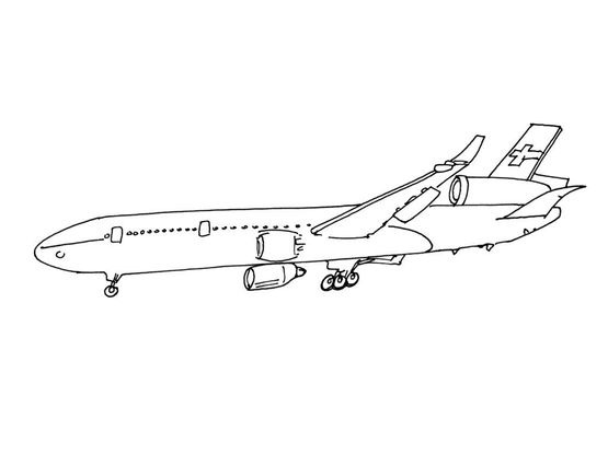 Coloriage Avion Profil.Coloriage Avion 2 Coloriage Avions Coloriages Transports
