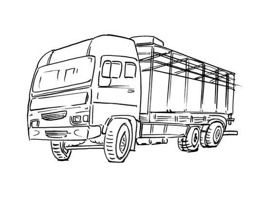 Coloriage De Camion De Transport.Coloriage Camion 8 Coloriage Camions Coloriages Transports