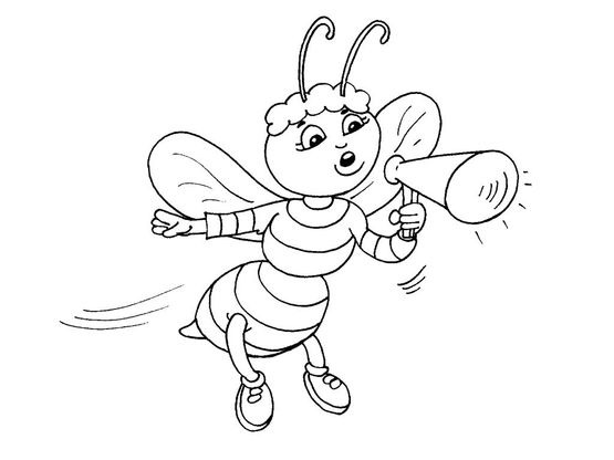 Coloriage abeille 28 coloriage abeilles coloriages animaux - Abeille coloriage ...