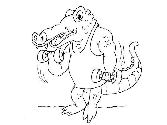 Coloriage crocodile 22 coloriage crocodiles coloriages animaux - Crocodile coloriage ...