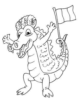 Coloriage crocodile 28 coloriage crocodiles coloriages animaux - Crocodile coloriage ...