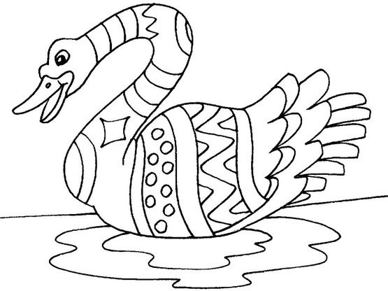 Coloriage cygne 28 coloriage cygnes coloriages animaux - Coloriage cygne ...
