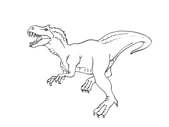 Coloriage dinosaure tyrannosaure coloriage dinosaures - Dessin de tyrannosaure ...