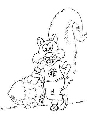Coloriage ecureuil 22 coloriage ecureuils coloriages animaux - Coloriage ecureuil ...