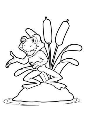 Coloriage grenouille 19 coloriage grenouilles coloriages animaux - Coloriage de grenouille ...
