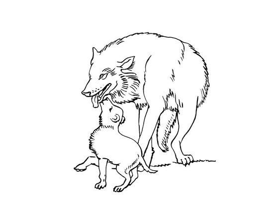 Coloriage loup 4 coloriage loups coloriages animaux - Coloriage loup rigolo ...