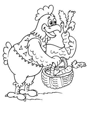 Coloriage poule 30 coloriage poules coloriages animaux - Dessin poule rigolote ...