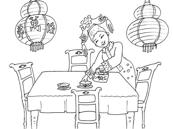 Coloriage chine 28 coloriage chine coloriages cartes - Coloriage chine ...