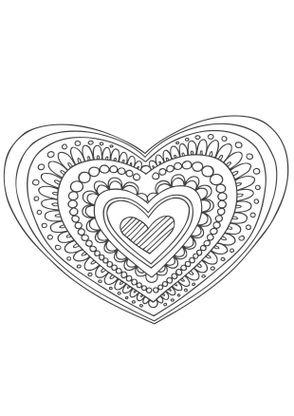 coloriage mandala coeur coloriage mandalas coloriages chiffres et formes. Black Bedroom Furniture Sets. Home Design Ideas