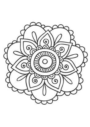 Coloriage mandala fleur 2 coloriage mandalas coloriages chiffres et formes - Coloriage fleur 2 ans ...